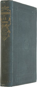 Books:First Editions, Henry David Thoreau. Excursions. Boston: Ticknor and Fields,1863. ...