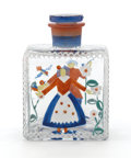 Decorative Arts, Continental:Other , IDA PAULIN. A Painted Glass Scent Bottle with Stopper, circa 1925.4 inches (10.2 cm) high. ...