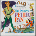 "Movie Posters:Animated, Peter Pan (Buena Vista, R-1958). Six Sheet (81"" X 81""). Animated....."