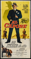 "Movie Posters:Crime, Al Capone (Allied Artists, 1959). Three Sheet (41"" X 81""). Crime.. ..."