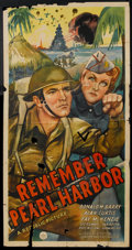 "Movie Posters:War, Remember Pearl Harbor (Republic, 1942). Three Sheet (41"" X 81"").War.. ..."