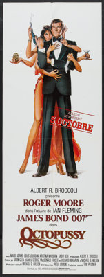 """Octopussy (MGM/UA, 1983). French Door Panel (22.75"""" X 61.5"""") Advance. James Bond"""