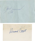 Boxing Collectibles:Autographs, Muhammad Ali and Howard Cosell Signatures. ... (Total: 2 items)