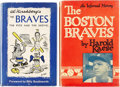 Autographs:Others, Boston Braves Signed Books Lot of 2. ... (Total: 2 items)