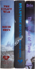 Books:Signed Editions, David Brin. Three Signed Limited Editions, including: StartideRising. [and:] The River of Time. [and:] ... (Total:3 Items)