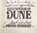 Books:Fiction, Two Science Fiction First Editions, One Inscribed, including: FrankHerbert. God Emperor of Dune. Inscribe... (Total: 2 Items)