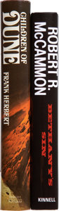 Books:Fiction, Two Science Fiction Titles, One Signed, including: Frank Herbert.Children of Dune. Book club edition. Sig... (Total: 2 Items)