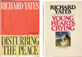 Books:Signed Editions, Richard Yates. Two Signed First Editions, including: Disturbingthe Peace. Inscribed. [and:] Young Hearts Crying... (Total:2 Items)