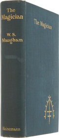 Books:First Editions, W. Somerset Maugham. The Magician. London: Heinemann, 1908.First edition, first issue. Publisher's blue cloth. ...