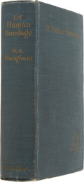 Books:First Editions, W. Somerset Maugham. Of Human Bondage. London: Heinemann,1915. First English edition. Publisher's blue cloth. C...