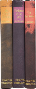 Books:Fiction, J. R. R. Tolkien. The Lord of the Rings Trilogy. Boston: HoughtonMifflin Company, [c. 1965]. Complete in three volumes, in ...