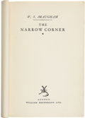 Books:Fiction, W. Somerset Maugham. The Narrow Corner. London: Heinemann,[1932]. Advance proof copy. Publisher's buff wrappers...
