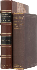 Books:First Editions, Two Books on the Civil War including George S. Boutwell.Speeches and Papers Relating to the Rebellion and the Overt...(Total: 2 Items)