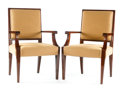Furniture : French, A PAIR OF FRENCH UPHOLSTERED ARMCHAIRS. Circa 1940. 37 x 24 x 23 inches (94.0 x 61.0 x 58.4 cm) each. ... (Total: 2 Items)