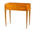 Furniture : French, Manner of LÉON JALLOT. A Wood Desk, circa 1930s. 32 x 32 x 19inches (81.3 x 81.3 x 48.3 cm). ...