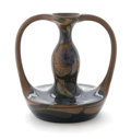 Ceramics & Porcelain, Continental:Modern  (1900 1949)  , GOUDA ZUID-HOLLAND. A Glazed Earthenware Two-Handled Vase, circa 1900. Impressed on base: Zuid Holland. 16 inches (40.6 ...