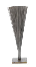 Fine Art - Sculpture, American:Contemporary (1950 to present), HARRY BERTOIA (American, 1915-1978). Untitled (Spray), circa1968. Chromium plated steel and steel wire. 18 inches (45.7...