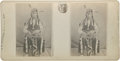 """Autographs:Military Figures, [Chief Belly Fat] Stereoview of Chief Belly Fat, 7"""" x 3.5"""". The stereo card was published by G. H. Nickerson of Provincetown..."""