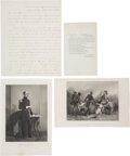 "Autographs:Military Figures, John E. Wool Letter Signed. One and one-half pages, 8"" x 10"", July30, 1861, ""Head quarters, Dept. of the East, Troy, N.Y...(Total: 4 Items)"