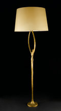 Decorative Arts, Continental:Lamps & Lighting, FELIX AGOSTINI. A Gilt Bronze Floor Lamp. 69 x 23-1/2 inches (175.3x 59.7 cm). ...