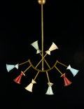 Decorative Arts, Continental:Lamps & Lighting, STILNOVO. A Lacquered Metal Ceiling Light, circa 1950s. 36-1/2 x 29 inches (92.7 x 73.7 cm). ...