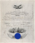 """Autographs:U.S. Presidents, Ulysses S. Grant Naval Appointment Signed """"U. S. Grant"""" as president and countersigned by """"Geo. M. Robeson"""" as S..."""