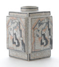 Ceramics & Porcelain, ROBERT LALLEMANT. A Glazed and Painted Earthenware Vase with Cubist Designs, circa 1925. Marks: T R Lallemant. 10 inches...