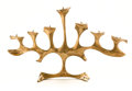 Decorative Arts, French:Lamps & Lighting, FRED BROUARD. A Seven-Branch Bronze Candelabrum, circa 1970. 17 x28 x 6 inches (43.2 x 71.1 x 15.2 cm). ...