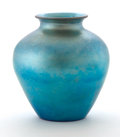 Art Glass:Steuben, STEUBEN. A Blue Aurene Glass Vase, circa 1928. Inscribed on base:Steuben Aurene 2683. 10-3/4 inches (27.3 cm) high. ...