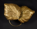 Decorative Arts, Continental:Lamps & Lighting, TOMASSO BARBI. A Hammered Brass Sconce. 37-3/4 inches (95.9 cm)long. ...