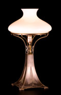 Decorative Arts, American:Lamps & Lighting, PAIRPOINT MANUFACTURING COMPANY. A Glass and Metal Table Lamp, circa 1923. Stamped on base: Pairpoint Mf'g Co., (P withi...
