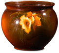 Ceramics & Porcelain, American:Modern  (1900 1949)  , MCCOY. A Standard-Glazed Pottery Vase with Night Daffodils. 7inches (17.8 cm) high. ...