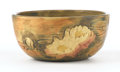 Ceramics & Porcelain, American:Modern  (1900 1949)  , WELLER. A Woodcraft Pottery Bowl with Waterlilies. Impressed on base: Weller. 6-3/4 inches (17.1 cm) diameter. ...