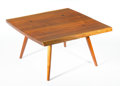 Furniture : American, GEORGE NAKASHIMA FOR WIDDICOMB. A Walnut Coffee Table. 15 x 28 x 28 inches (38.1 x 71.1 x 71.1 cm). ...