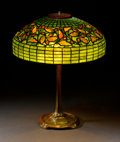 "Decorative Arts, American:Lamps & Lighting, TIFFANY STUDIOS. An ""Oak Leaf"" Leaded Glass and Bronze Table Lamp, circa 1910. Shade stamped: TIFFANY STUDIOS NEW YORK 140..."