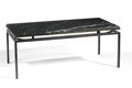 Furniture : French, A FRENCH ART DECO MARBLE AND WROUGHT IRON COFFEE TABLE. Circa 1932.13 x 35 x 18 inches (33.0 x 88.9 x 45.7 cm). ...