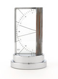 Decorative Arts, Continental:Other , ZEISS IKON. A Chromium Plated Metal and Glass Aneroid Barometer,circa 1930. Signed on face: ZEISS IKON BERLIN. 6-1/2 in...