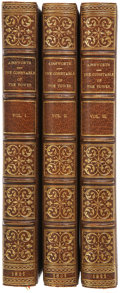 Books:Fiction, William Harrison Ainsworth. The Constable of the Tower. AnHistorical Romance. London: Chapman and Hall, 1861. V...(Total: 3 Items)