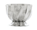 Silver Holloware, Continental:Holloware, JOSEF HOFFMANN FOR THE WIENER WERKSTÄTTE. A Hand-Wrought SilverPlated Brass Spiral Fluted Candy Tazza, circa 1923-1924. Mar...