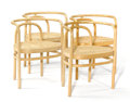 Furniture : Continental, POUL KJAERHOLM FOR PP MÖBLER. A Set of Four Steambent Ash PK-15Chairs with Woven Cane Seats, circa 1990s. 27-1/2 x 21-1/4 x...(Total: 4 Items)