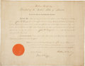 "Autographs:U.S. Presidents, William McKinley Document Signed as president and countersigned by Attorney General John W. Griggs. One page, 18"" x 14"",..."