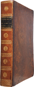 Books:Non-fiction, Erasmus Darwin. Xoonomia; or, The Laws of Organic Life -Volume I Only. London: J. Johnson, 1794. First edition....