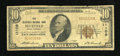 National Bank Notes:West Virginia, Bluefield, WV - $10 1929 Ty. 1 The Bluefield NB Ch. # 11109. ...