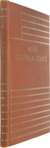 Books:Signed Editions, William Faulkner. Miss Zilphia Gant. Dallas: The Book Clubof Texas, 1932.. First edition. Limited to 300 copies f...