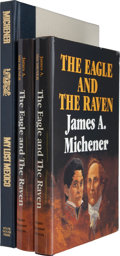Books:First Editions, James A. Michener. Three Books, including: The Eagle and theRaven. Austin: State House Press, [1990]. Signed by M...(Total: 3 Items)