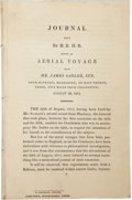 Books:First Editions, H[enry] B[enjamin] H[anbury] B[eaufoy]. Journal Kept by H.B.H.B.During an Aerial Voyage with Mr. James Sadler, Sen. fro...