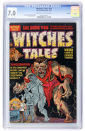 Golden Age (1938-1955):Horror, Witches Tales #14 File Copy (Harvey, 1952) CGC FN/VF 7.0 Light tanto off-white pages....