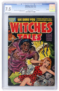 Golden Age (1938-1955):Horror, Witches Tales #15 File Copy (Harvey, 1952) CGC VF- 7.5 Light tan tooff-white pages....