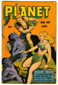Golden Age (1938-1955):Science Fiction, Planet Comics #40 (Fiction House, 1946) Condition: VG-....