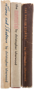 Books:First Editions, Christopher Isherwood. Three Books, including: Lions andShadows. [and:] The Memorial [and:] Berlin Stor...(Total: 3 Items)